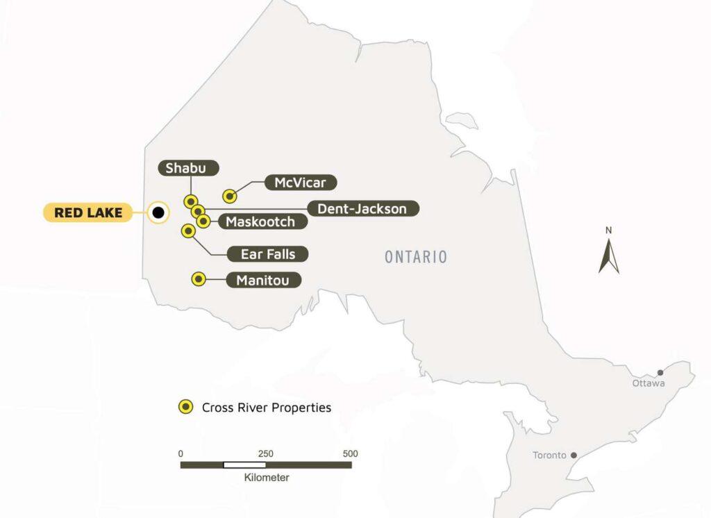 McVicar Gold Project map location cross river ventures